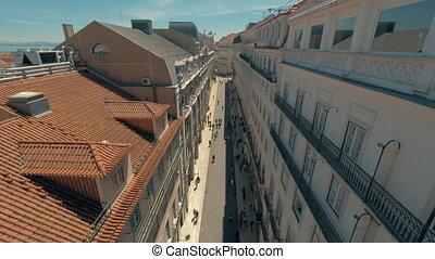 Observing Lisbon from Santa Justa Lift, Portugal - At the...