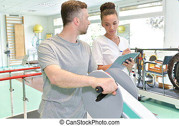 observing the physical therapy patient