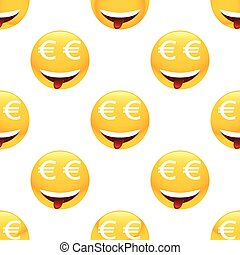 obsesionado, por, dinero, emoticon, patrón