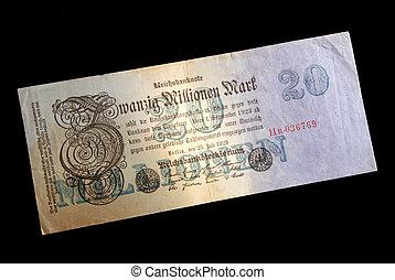 Obsolete Fiat German Bank Note - Obsolete 1923 20 Million...