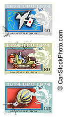 Obsolete post stamps from Hungary
