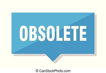 obsolete price tag - obsolete blue square price tag