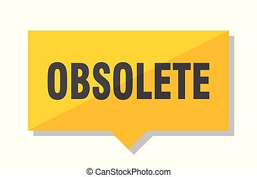 obsolete price tag - obsolete yellow square price tag