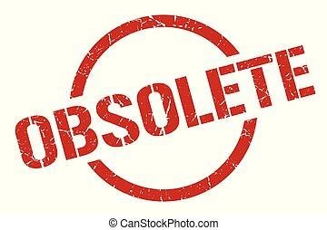 obsolete stamp - obsolete red round stamp