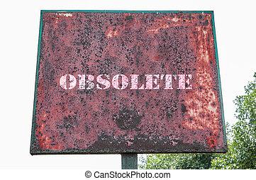 Obsolete text message