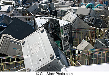 obsoleto, pc, reciclagem