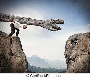 obstáculo, solução, superar