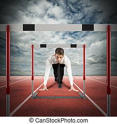 obstáculos, empresa / negocio, camino