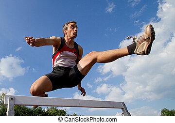 obstáculos, sprint