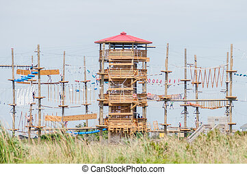 obstacle course tower ready for adventure