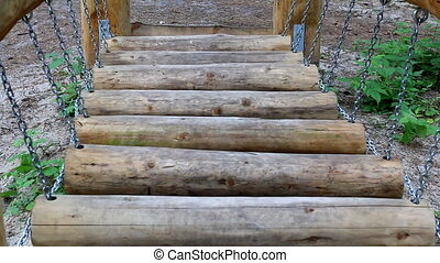 Obstacle course,top view. - Obstacle course made of wooden...