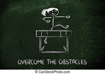 obstacles, conception, obstacle, vie, ton, surmonter