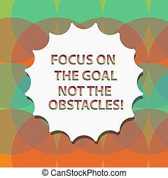obstacles., pojem, text, pečeť, ohnisko, čistý, dílo, nejlépe, dokončit, branka, dupnutí, cíl, charakterizovat, quality., být, symbol, povolání, znak, ne, stín, monogram, vzkaz, odhodlaný