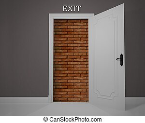 Obstructed exit - Exit obstructed by a job without...