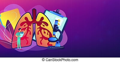 Obstructive pulmonary disease concept banner header.