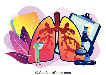 Obstructive pulmonary disease concept vector illustration.