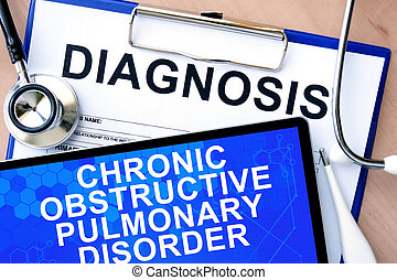 obstructive pulmonary disorder - Form with word diagnosis...