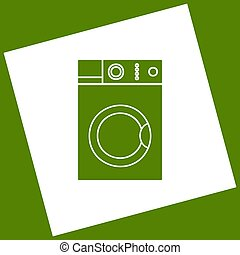 obtained, τετράγωνο , πλύση , αβοκάντο , αναχωρώ. , γυρίζω , μηχανή , φόντο. , αφαίρεση , vector., άσπρο , εικόνα , path., αποτέλεσμα