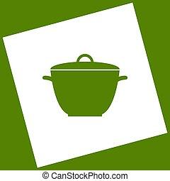 obtained, carrée, vector., simple, tourné, signe., avocat, arrière-plan., soustraction, casserole, blanc, icône, path., résultat