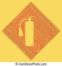 obtained, extincteur, rhomb, brûler, gribouiller, signe., royal, jaune, arrière-plan., résultat, vector., icône, path., rouges, soustraction