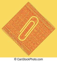 obtained, illustration., clip, rhomb, scarabocchio, reale, segno giallo, fondo., sottrazione, vector., icona, path., rosso, risultato