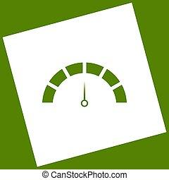obtained, plein, illustration., snelheidsmeter, avocado, rondgedraaide, meldingsbord, achtergrond., aftrekking, vector., witte , pictogram, path., resultaat