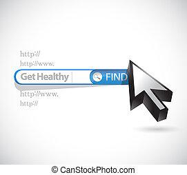 obtenga sano, búsqueda, barra, ilustración