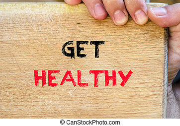 obtenga sano, texto, concepto