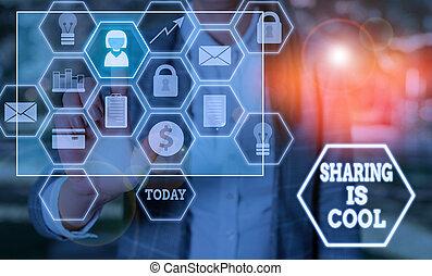 obtenir, signe, photo, awesome., projection, connaissance, partage, ou, donner, services, conceptuel, marchandises, texte, cool.