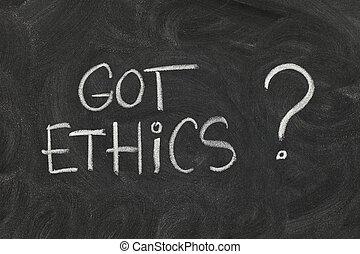 obtenu, éthique, ?