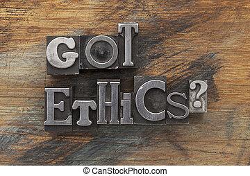 obtenu, éthique, question