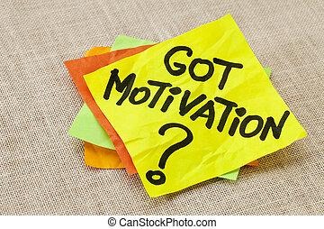 obtenu, motivation, question