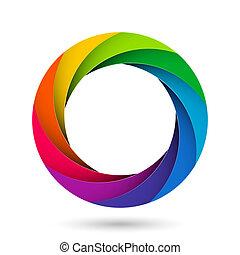 obturador, abertura, cámara, colorido