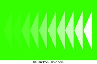 Obtuse triangle slow faded in the line on green screen design of technology for advertisement