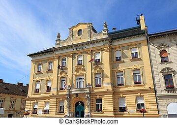 Obuda, Budapest - Budapest, Hungary - town hall building of...