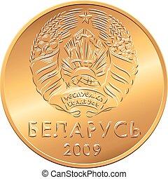 obverse, coins, nuevo, belarusian, dinero