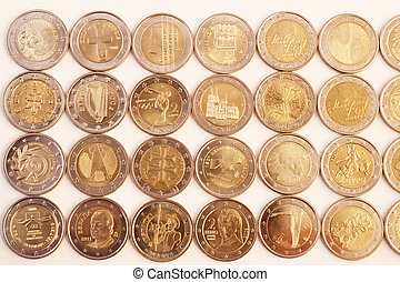 Obverse side of 2 Euro coins