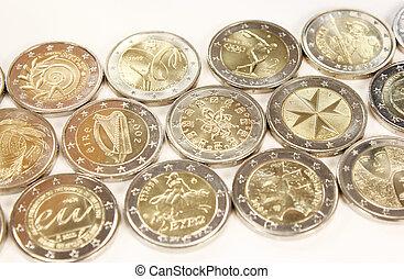 2 Euro coins