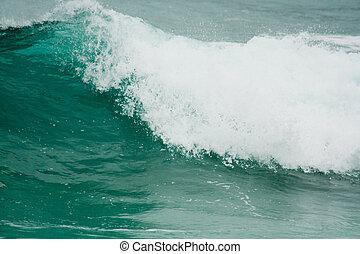 océan, fond, vagues