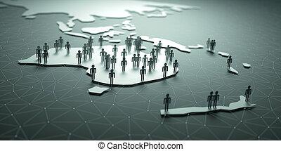 océanie, population