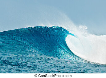 océano azul, onda