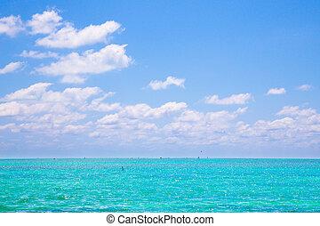 océano, cielo