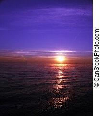 océano, salida del sol, ii