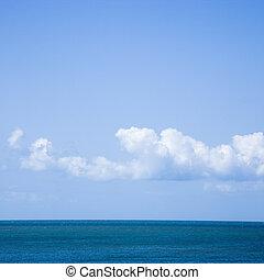océano, sky.