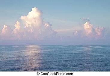 océano, y, cielo