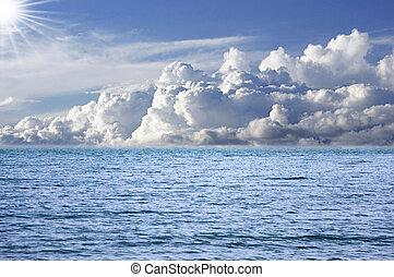 océano, y, perfecto, cielo