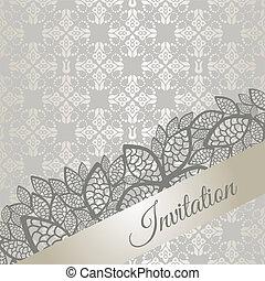 ocasião especial, convite, prata