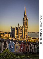 ocaso, en, la catedral