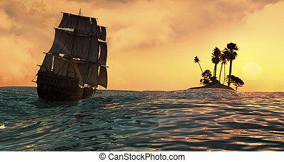 ocaso, Navegación