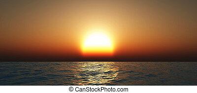 ocaso oceano